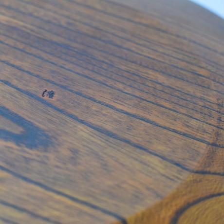 拭き漆 フラットプレート24cm