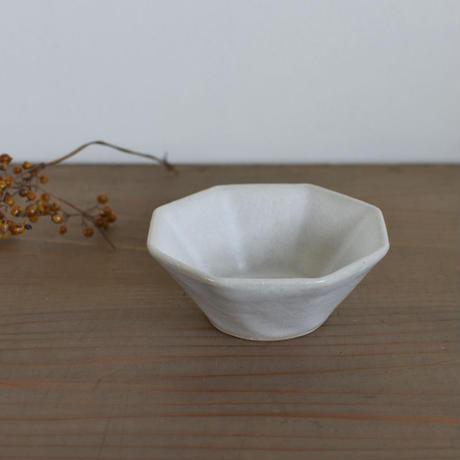 たくまポタリー 小鉢 8角 白