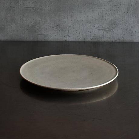 たくまポタリー 7寸 プレート皿 やわグレー