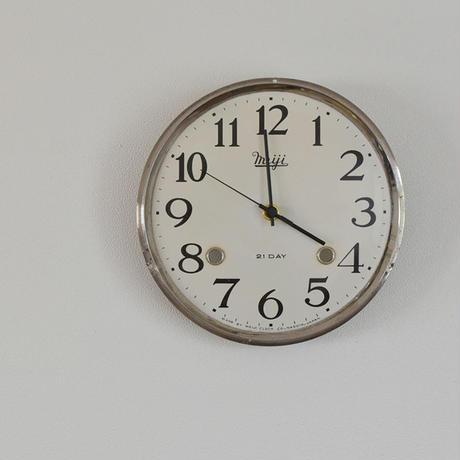 古道具部 振り子時計の文字盤時計(MEIJI)