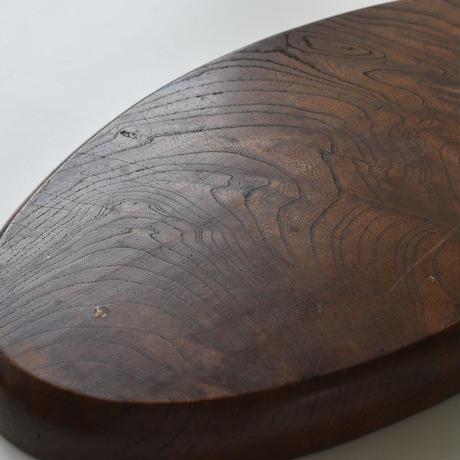 古道具部 欅の楕円盆