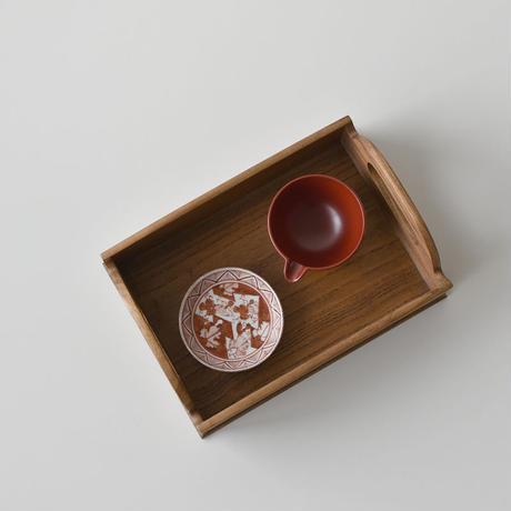 古道具部 九谷 赤絵ひさご小皿
