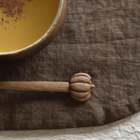 かぼちゃスープのためのスプーン