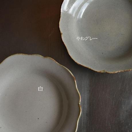 たくまポタリー 6寸皿 芙蓉 つや白