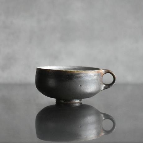 たくまポタリー スープマグ グレー茶