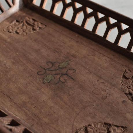 古道具部 象嵌透かし彫りトレイ