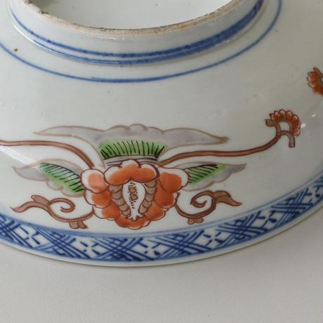 古道具部 色絵大鉢 菊に蝶