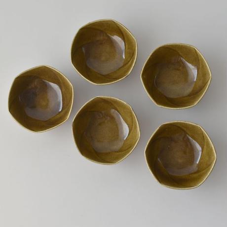 たくまポタリー 小鉢 ねじり キャラメル