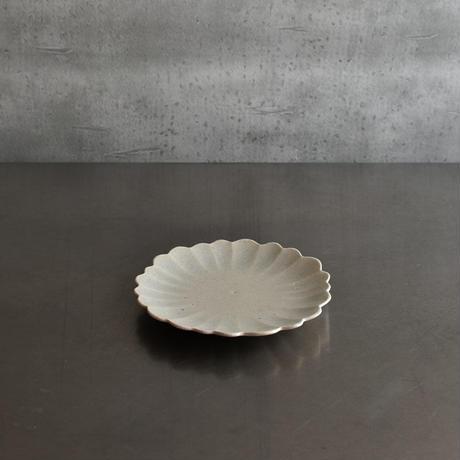 たくまポタリー 5寸皿 ハナ やわグレー