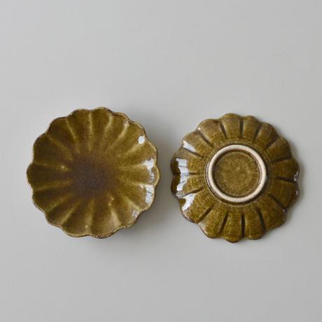 たくまポタリー 手塩皿 ハナ キャラメル