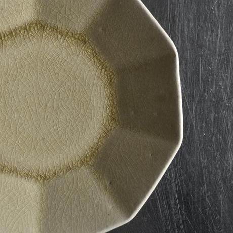 たくまポタリー 6寸皿 10角 はちみつ釉