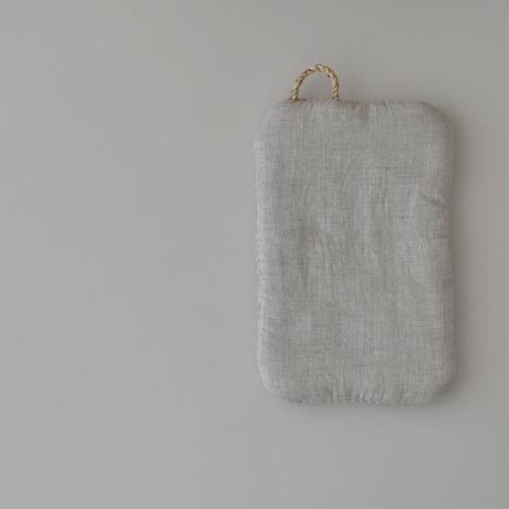 糸.so 裂き織り鍋つかみ 麻色