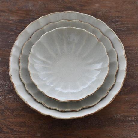 たくまポタリー 7寸鉢 ハナ つや白