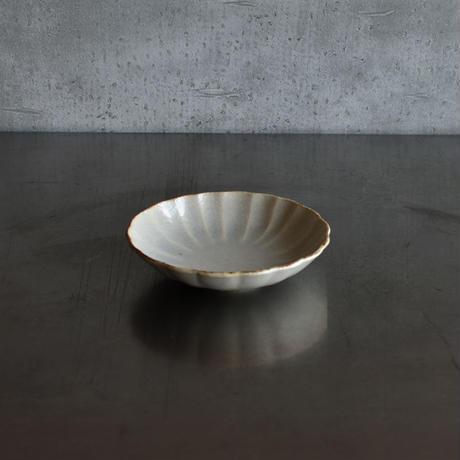 たくまポタリー ハナ 4.5寸深皿 やわグレー再入荷