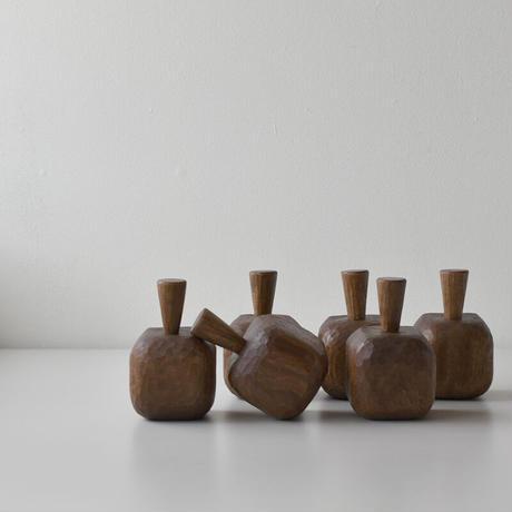 木彫りのおこめカップ