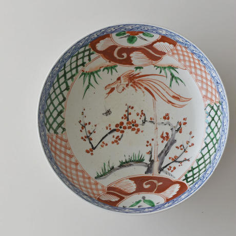 古道具部 色絵大鉢 梅に鳳凰