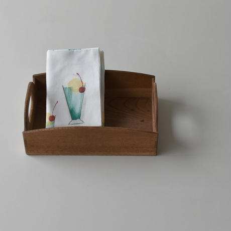アケモドロ 型染め手ぬぐい クリームソーダ
