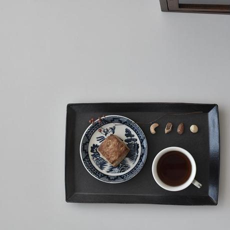たくまポタリー カレイ皿 こげ茶