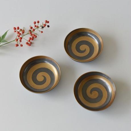 古道具部 金彩漆器うずまき小鉢