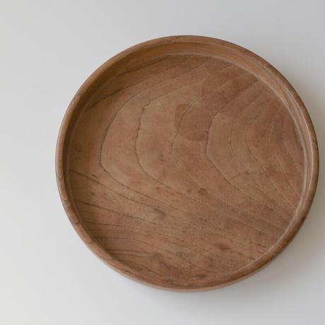 古道具部 欅の丸盆 Ф260