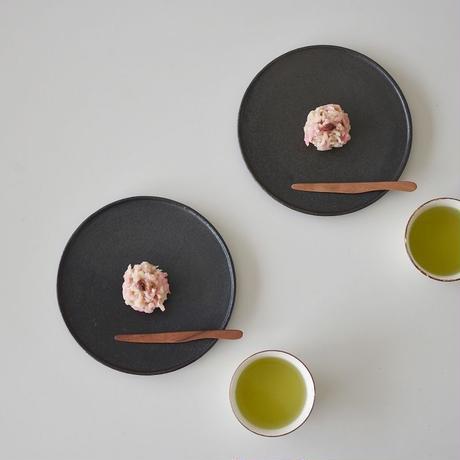 たくまポタリー 6寸 コンポート皿 こげ茶