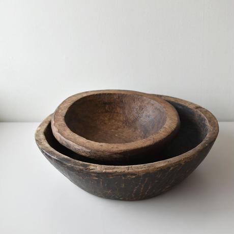 古道具部 使いこまれた大きな木鉢