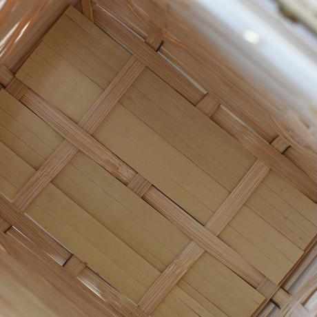 松田由紀 角物 縞々手提げ 蝶番蓋つき 小 再入荷6月頃
