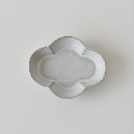 たくまポタリー   木瓜 小皿 グレー