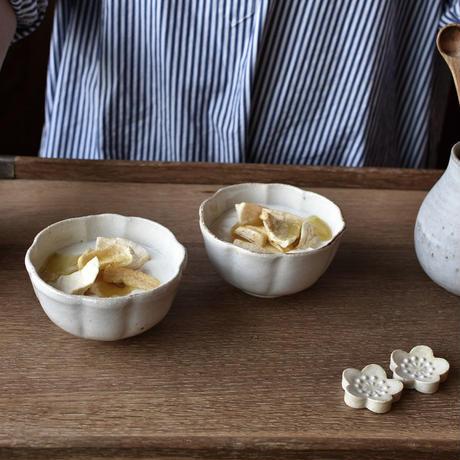 たくまポタリー 小鉢 綿花 つや白