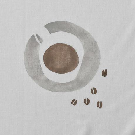 アケモドロ×ハモニ 型染め半ぶん手ぬぐい COFFEE