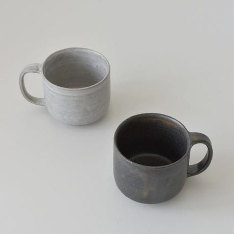 たくまポタリー マグ グレー・こげ茶