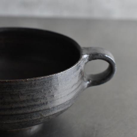 たくまポタリー スープマグ こげ茶