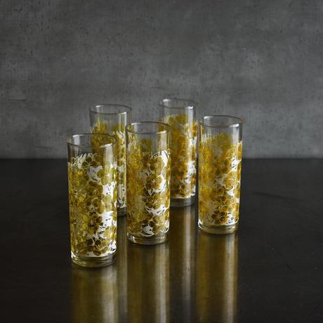 古道具部 花柄グラス5こセット