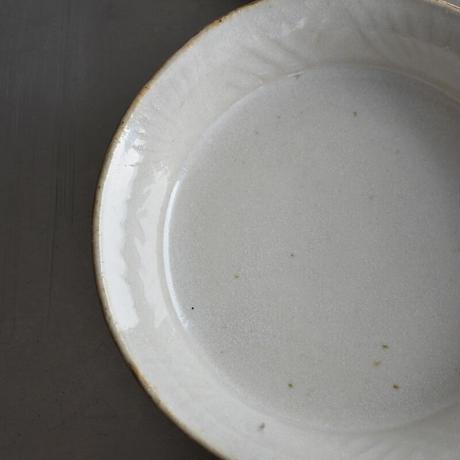 たくまポタリー 5.5寸 浅鉢 綿毛 やわグレー