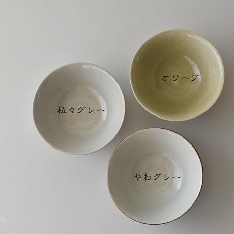 たくまポタリー 6寸鉢 粒々グレー