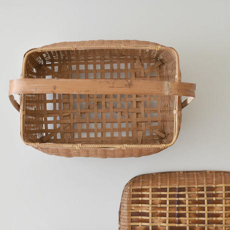古道具部 持ち手つき竹かご