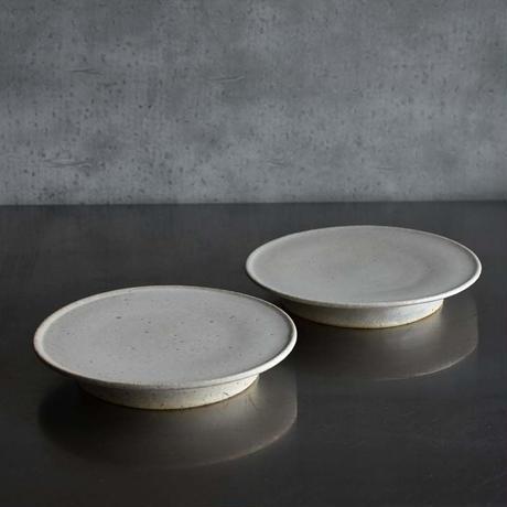 たくまポタリー 6寸皿 コンポート やわグレー