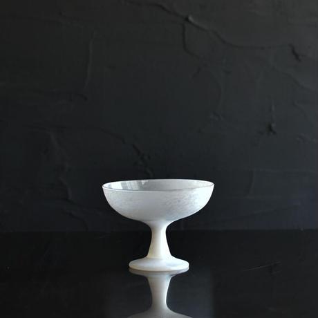 小宮崇 ガラスのデザートカップ 白 ⑩