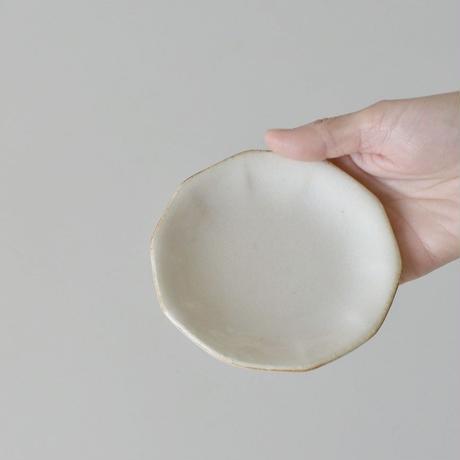 たくまポタリー 小皿 10角 つや白・やわグレー
