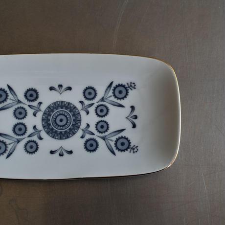 古道具部 幾何学模様の長方皿