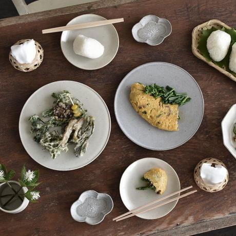 たくまポタリー 小皿   木瓜 ストーングレー