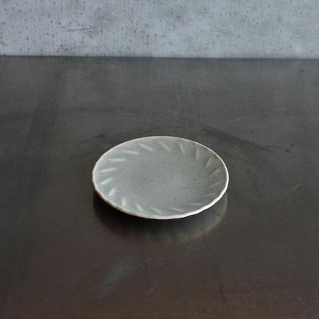 たくまポタリー 4.5寸皿 風 やわグレー