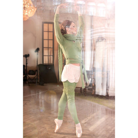 [Ballet Maniacs] Shawl by Evgenia Obraztsova Green Apple