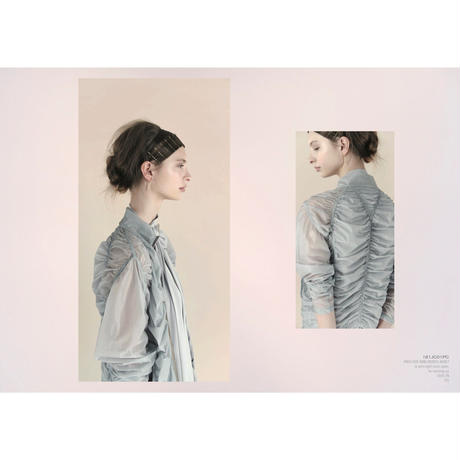 [Just A Corpse・予約商品] PARA-CUTE – ice gray draped jacket