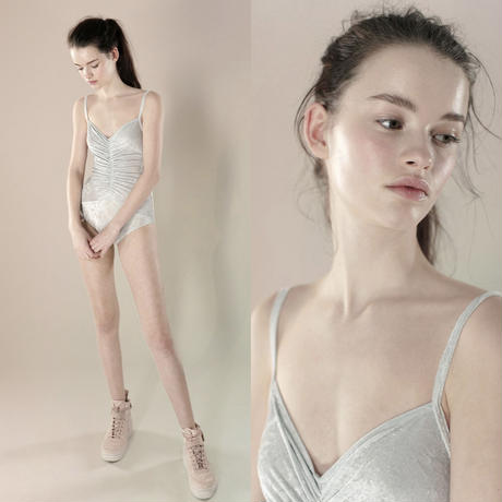 [Just A Corpse] PLUSHIE – ice draped (gathered) leotard