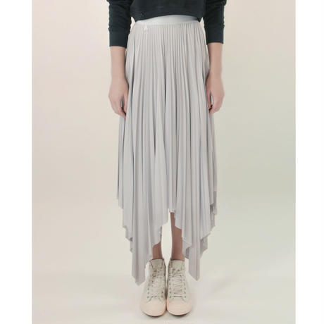 [Just A Corpse・予約商品] SUN-RAY – pleated ice gray square skirt