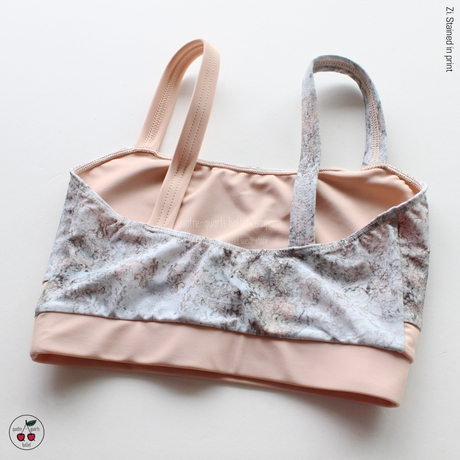 [Zi dancewear] Top Strap, stained with the print Delicate Dirt