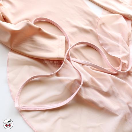 [Wear Moi] ALEGRO Wrap Skirt 'Peach'