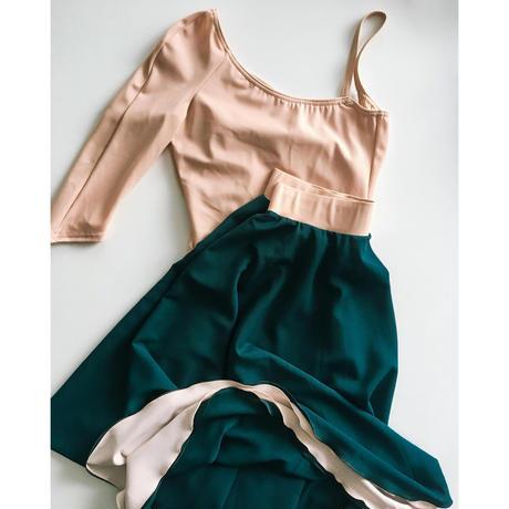 [Zidans] Emerald + plaster two-sided rehearsal skirt