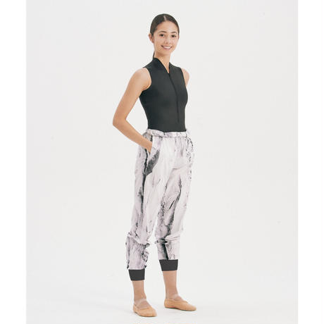 """[S M K] WHITE ICE RECYCLED POLYESTER UNISEX PANTS """"シャカパン"""""""